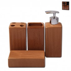 IM99-2384 Набор для ванны 4 предмета: дозатор, подставка для зубных щеток, стакан, мыльница