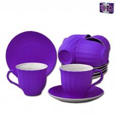 IM99-5292/фиолет Чайный набор 12 предметов 250мл