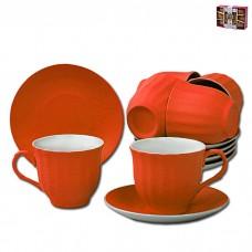 IM99-5292/оранж Чайный набор 12 предметов 250мл