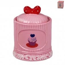 IM99-2243/розовый Банка с крышкой 13*9,3*10 см