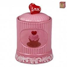 IM99-2242/розовый Банка с крышкой 16*10,5*11 см
