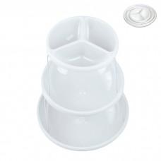 IM99-1435/белый Этажерка складная 3х ур для снэков 18*23*28см