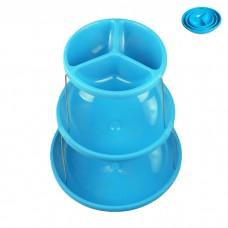 IM99-1435/голубой Этажерка складная 3х ур для снэков 18*23*28см
