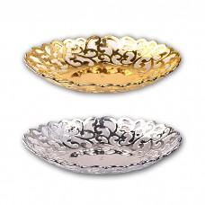 IM99-1411/золото Блюдо круглое d=34см,,w=26см,h=3см Микс