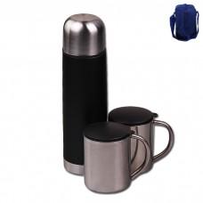 IM99-5435/синий Походный набор:Термос 500л + 2 кружки(220мл)