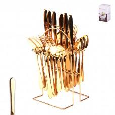 IM99-0349 Набор стол.приборов 24 предмета на металлической подставке