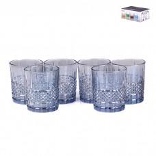 IM99-5751 Набор стаканов стеклянных, рельефных 6шт 8*8*9,5см