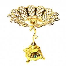 IM99-1444 Этажерка АЖУР 2х уровневая золотая 27/30*29см